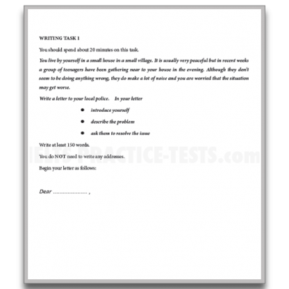 IELTS Writing Practice Task 1 General Training Question