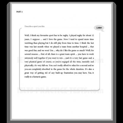 IELTS Speaking Practice Part 2 Model Answer