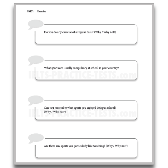 all ielts speaking question with answer Ielts test ebooks, writing correction and feedback, speaking mock tests and band level assessment for exams by an examiner tips on how to pass you test.