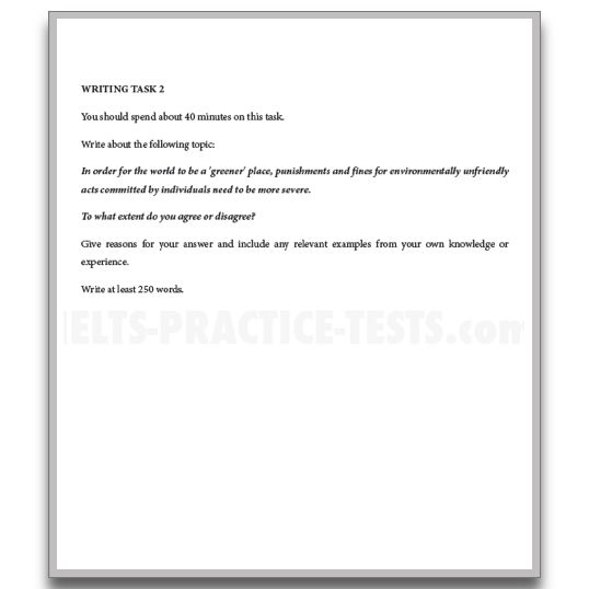 Ielts academic essay