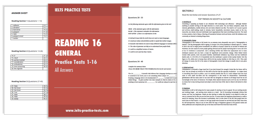 IELTS Reading Practice General Training - Download Today